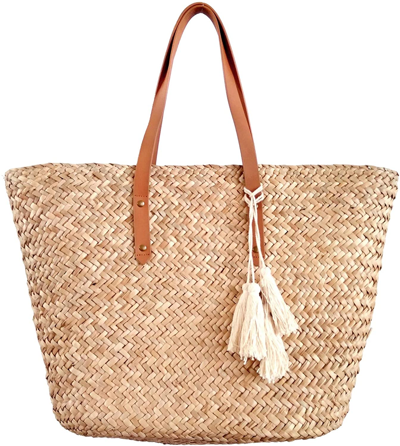 straw beach bag